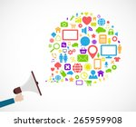 loudspeaker social media icon... | Shutterstock . vector #265959908