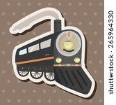 transportation train theme...   Shutterstock .eps vector #265964330