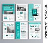 classic green brochure template ... | Shutterstock .eps vector #265966688