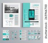 classic green brochure template ... | Shutterstock .eps vector #265966700