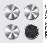 vector set of silver buttons