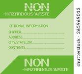 non hazardous waste.... | Shutterstock .eps vector #265969013