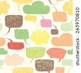 careless speech bubble shapes.... | Shutterstock .eps vector #265970810