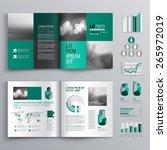 checkered green brochure...   Shutterstock .eps vector #265972019
