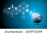 globe health care medical and... | Shutterstock .eps vector #265973249