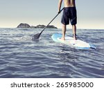 paddle stand up | Shutterstock . vector #265985000