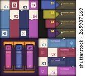 dark style infographics ... | Shutterstock .eps vector #265987169