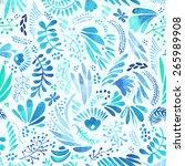 spring seamless background | Shutterstock .eps vector #265989908