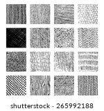 vector texture by ink pen.... | Shutterstock .eps vector #265992188