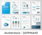 eight pages of infographic... | Shutterstock .eps vector #265996640