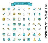 medical icons | Shutterstock .eps vector #266004140