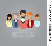 illustration of project team.... | Shutterstock .eps vector #266013488