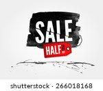 vector half price sale... | Shutterstock .eps vector #266018168