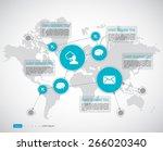 timeline infographics. vector... | Shutterstock .eps vector #266020340