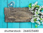 Blank Worn Wooden Sign With...