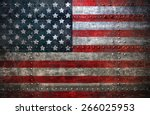 usa flag textured united stats... | Shutterstock . vector #266025953