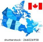 map of canada   vector... | Shutterstock .eps vector #266026958