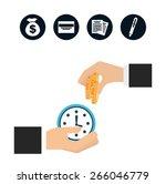 money concept design  vector... | Shutterstock .eps vector #266046779