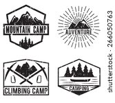 Set Of Vintage Labels Mountain...