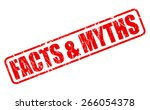 facts and myths red stamp text...   Shutterstock .eps vector #266054378