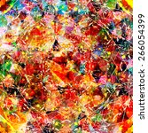 multicoloured abstract... | Shutterstock .eps vector #266054399