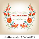 floral background mothers day... | Shutterstock . vector #266062859