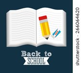 back to school design  vector... | Shutterstock .eps vector #266064620