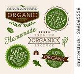 set of organic health food... | Shutterstock .eps vector #266065256