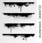 four grunge edges for your... | Shutterstock .eps vector #26606722