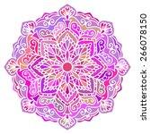 multicolor mandala. vector... | Shutterstock .eps vector #266078150