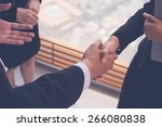 close up image of business... | Shutterstock . vector #266080838