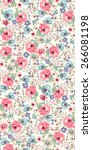 Seamless Flower Pattern. Vecto...