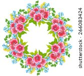 frame for your text of flowers... | Shutterstock .eps vector #266083424