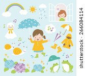 rainy day | Shutterstock .eps vector #266084114