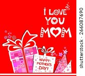 happy mother's day  greeting... | Shutterstock .eps vector #266087690