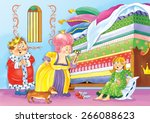 princess and the pea. fairy... | Shutterstock . vector #266088623