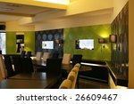 interior of a modern restaurant | Shutterstock . vector #26609467