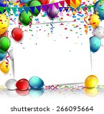 birthday background with balloon | Shutterstock .eps vector #266095664