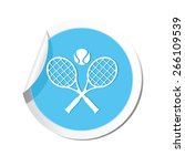 tennis racket and ball icon. | Shutterstock .eps vector #266109539