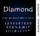 vector diamond letters. shiny... | Shutterstock .eps vector #266109650