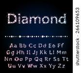 vector diamond letters. shiny... | Shutterstock .eps vector #266109653