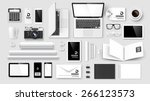 mock up set of corporate... | Shutterstock .eps vector #266123573