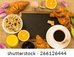 breakfast table with a... | Shutterstock . vector #266126444