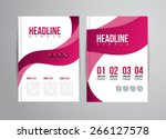 vector flyer design template... | Shutterstock .eps vector #266127578