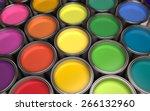 3d. paint  paint can  color... | Shutterstock . vector #266132960