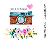 capture the moment  vintage... | Shutterstock .eps vector #266138009