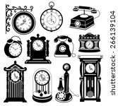 vintage vector set  antique... | Shutterstock .eps vector #266139104