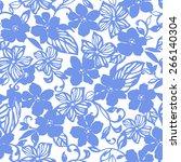 flower pattern | Shutterstock .eps vector #266140304