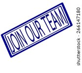 Join Our Team Blue Stamp Text...