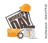May First Workers Day Icon Eps...